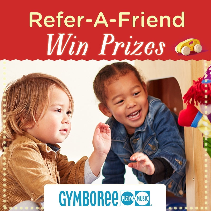 Earn $20 toward Gymboree Play & Music Classes (For you and a friend)